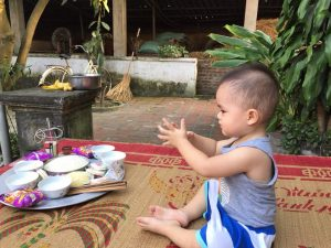 Child praying, Vietnam